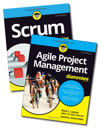 Agile Project Management For Dummies and Scrum For Dummies books
