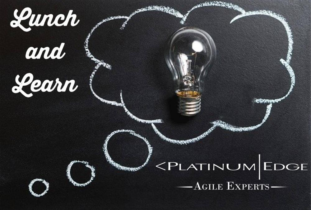 Light bulb lunch and learn text